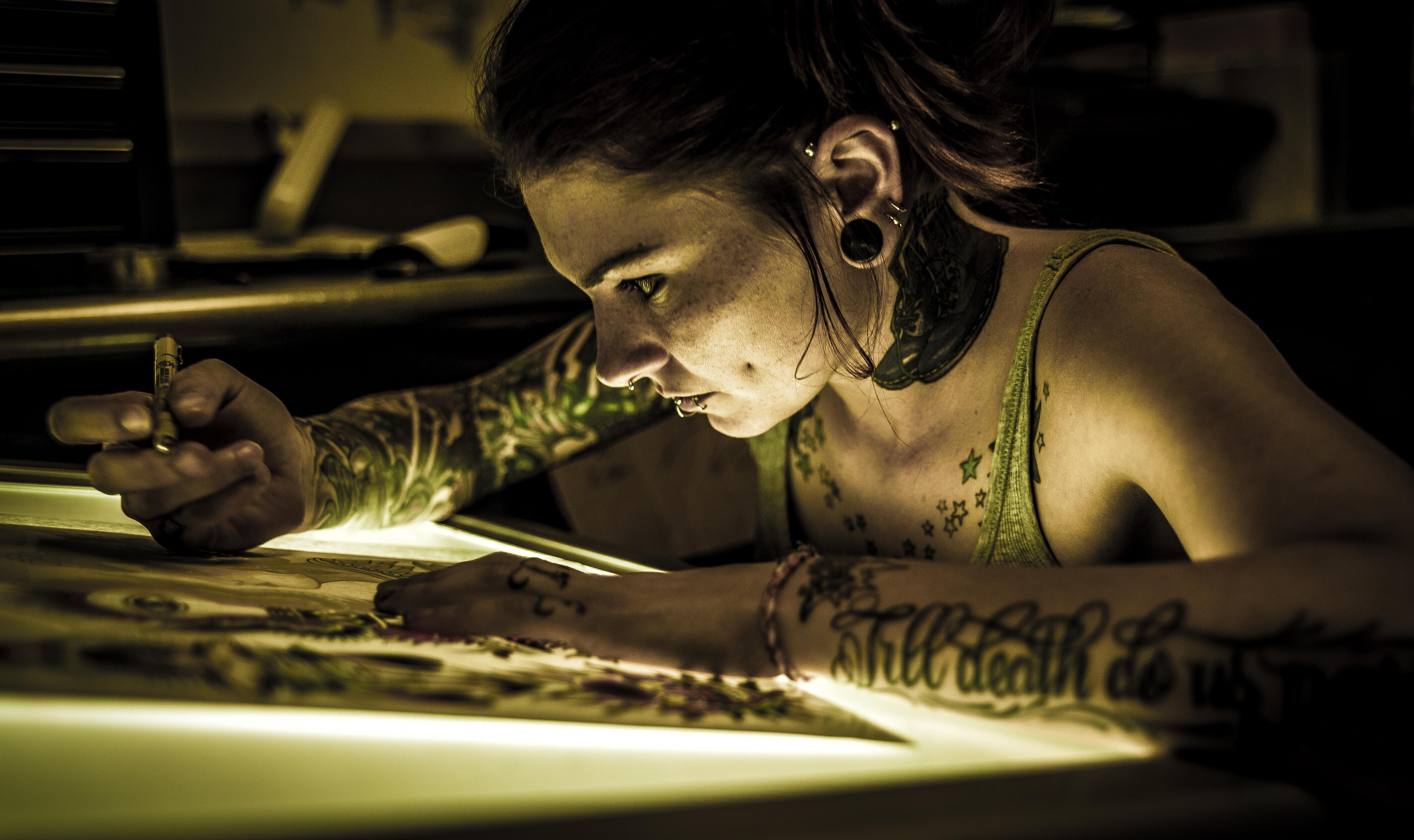 Tattoo Artist Portrait by dennissloan21 on DeviantArt