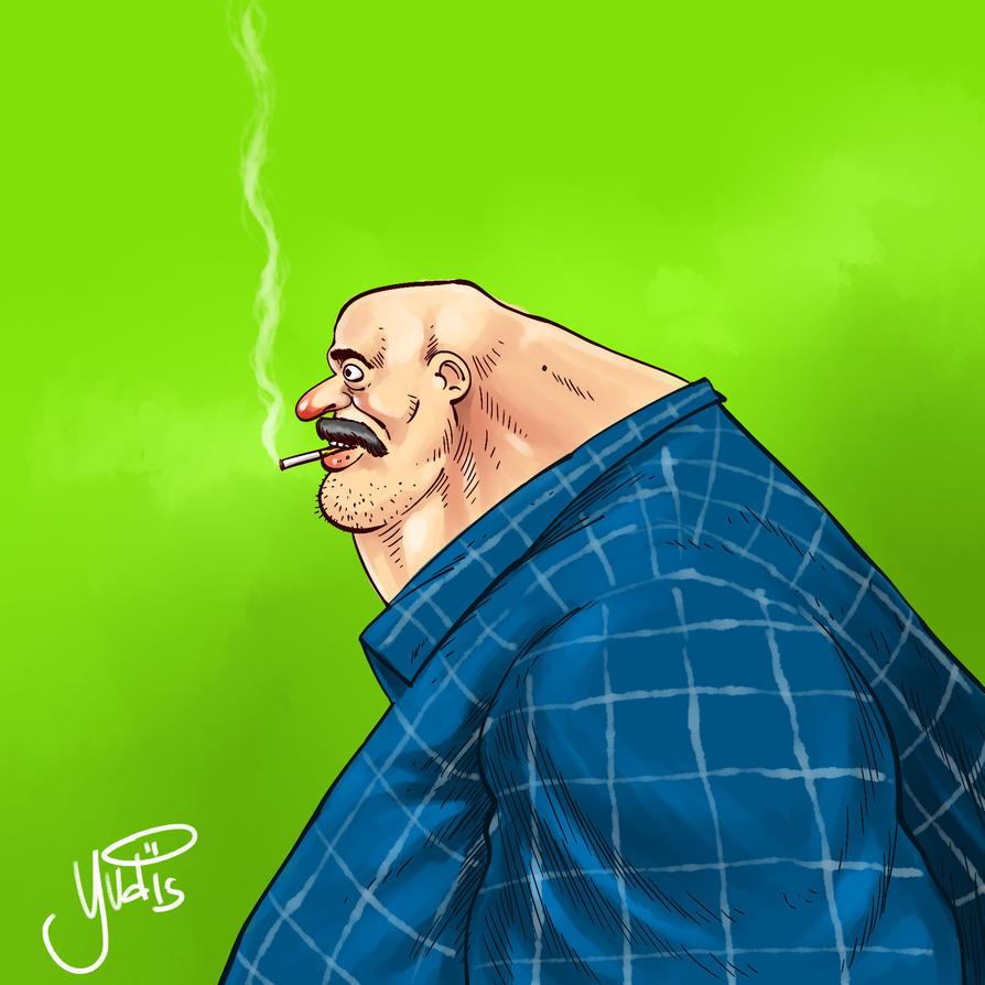 Smoker Man by pensilstudio