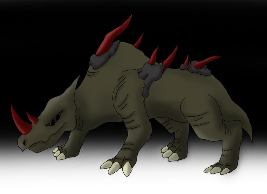 Bloodhorn Rhino by SupaJeffrey