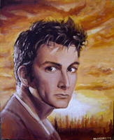The Tenth Doctor in Acrylic by napalmnacey