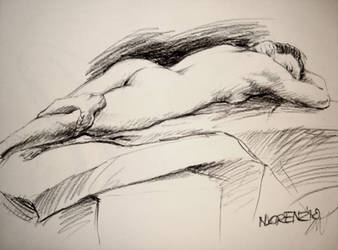 Life Drawing: Pose 2 June 2010 by napalmnacey