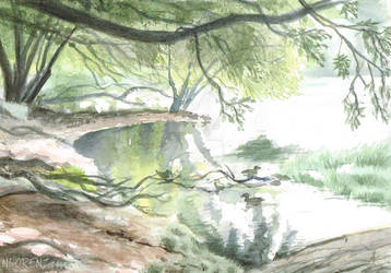 Lake Claremont: First Watercolour