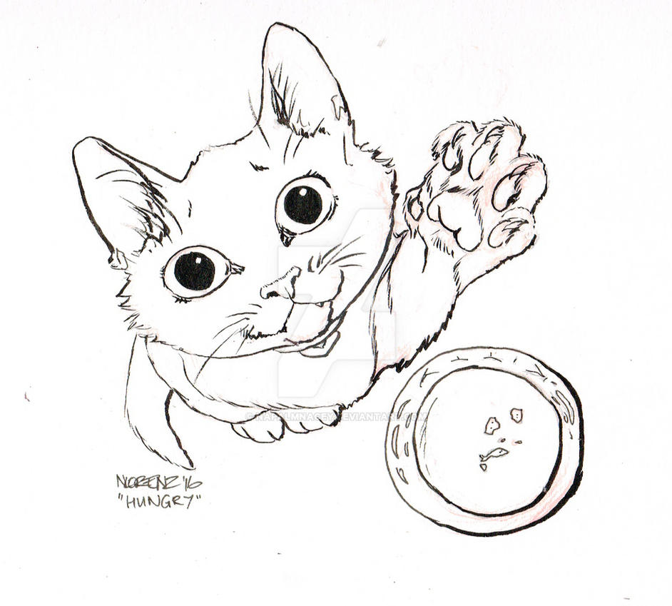 Inktober Day 4: Hungry by napalmnacey