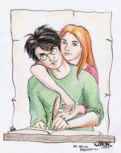 Harry and Ginny by napalmnacey