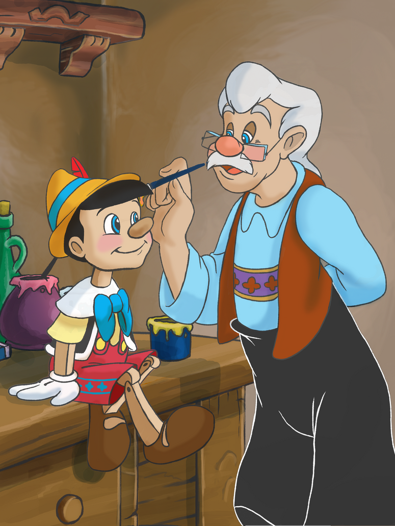 Pinocchio and gepetto by maddolphin on deviantart