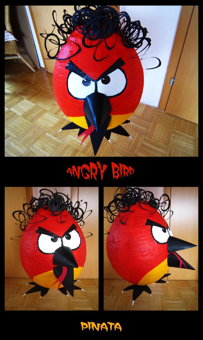 Red angry bird pinata angry bird pinata by hotabairo