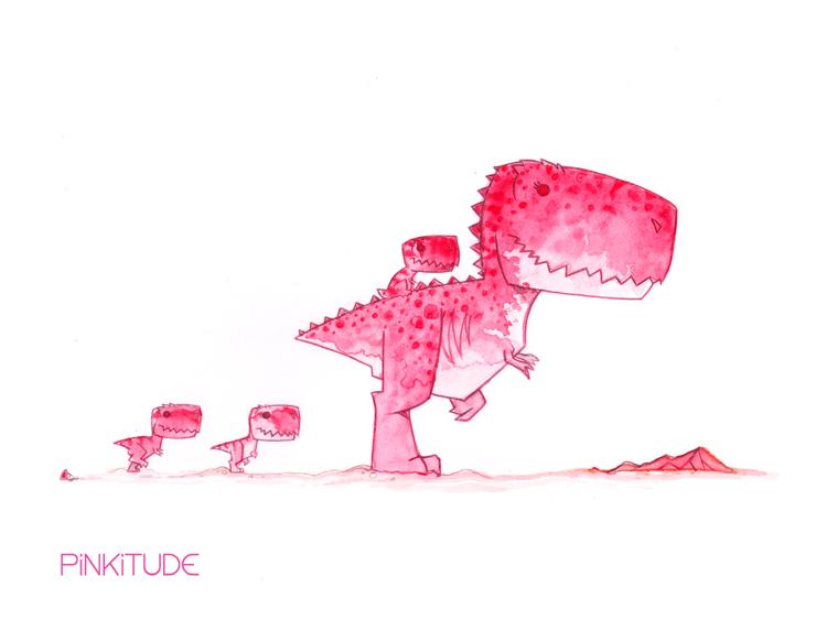 Mamma T-Rex by morganobrienart