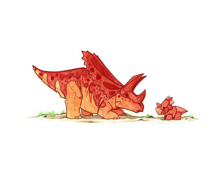 Pentaceratops and Toy