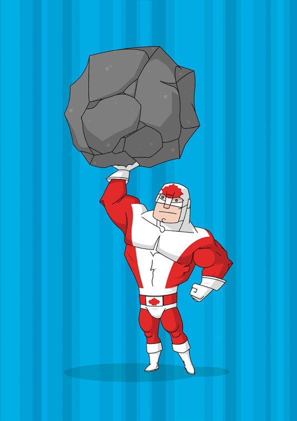 Captain Canuck by morganobrienart