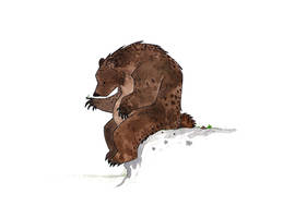 Bear and Bug by morganobrienart
