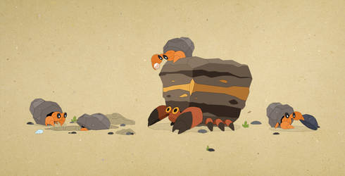 Paper Pokemon - Finding Fossils by morganobrienart
