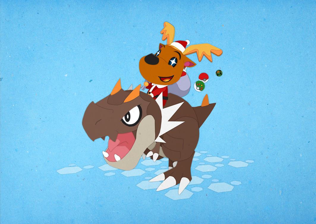 Paper Pokemon and Animal Crossing  - Jingle Balls by morganobrienart