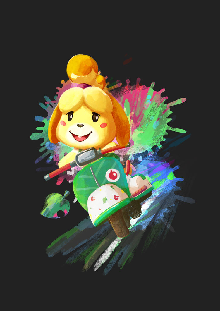 Splatoon / Animal Crossing / Mario Kart Isabelle by morganobrienart