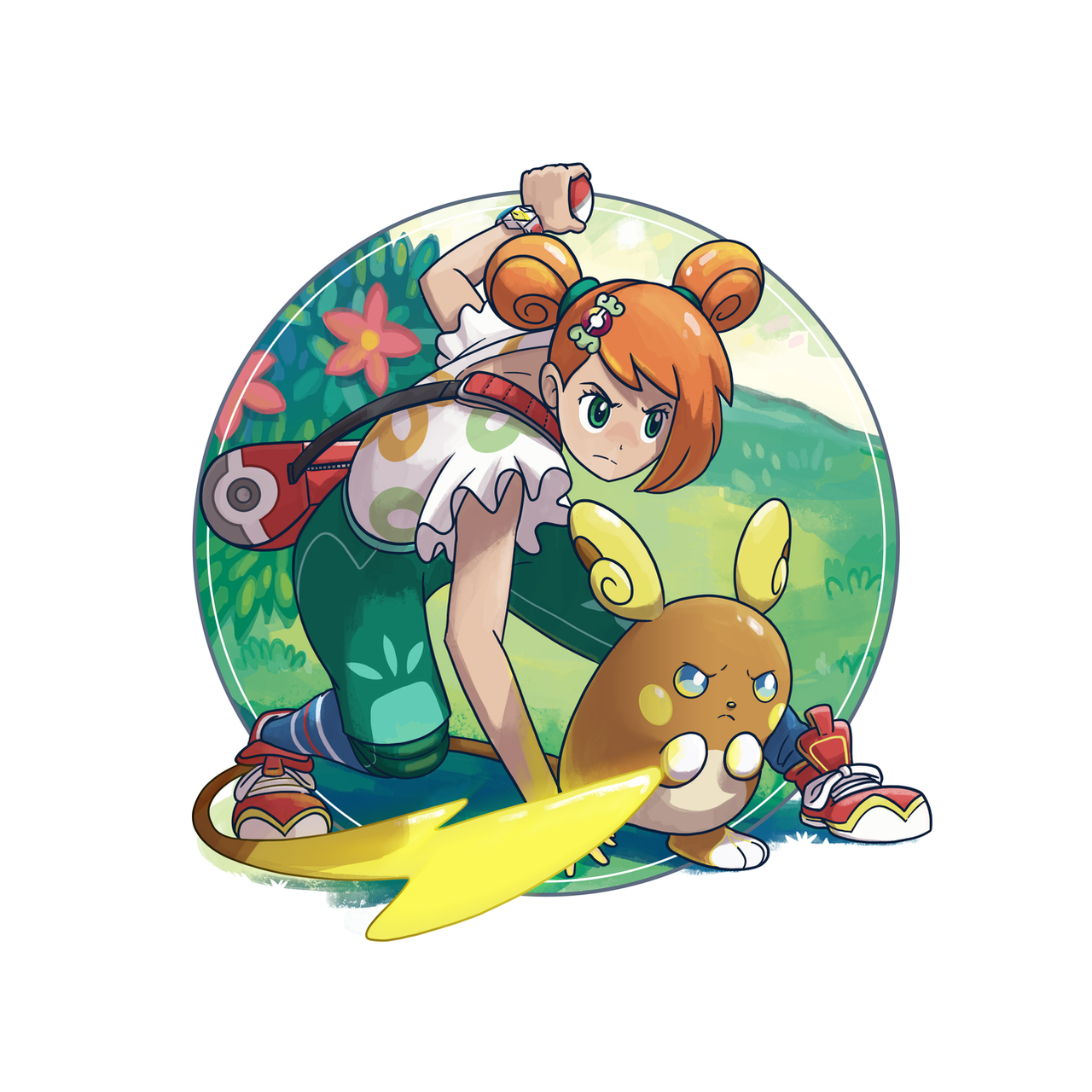 Alolan Raichu And Pokemon Trainer 639528677
