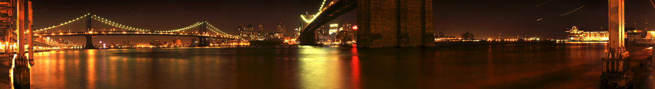 Brooklyn Bridge At Night by HearThisPlease