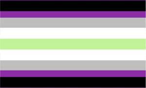 Agender grey-ace flag