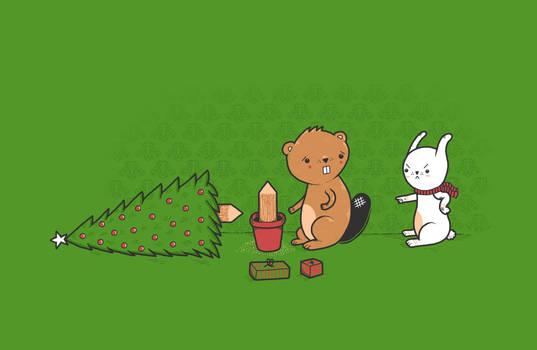 Beavers ruin Christmas