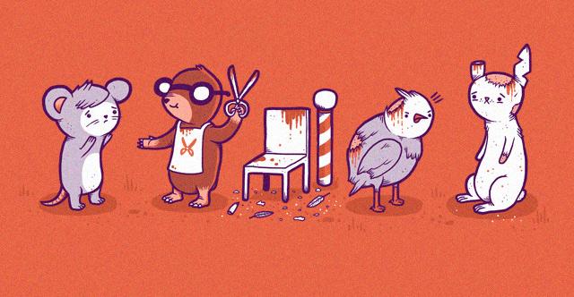 Mole hairdresser by randyotter