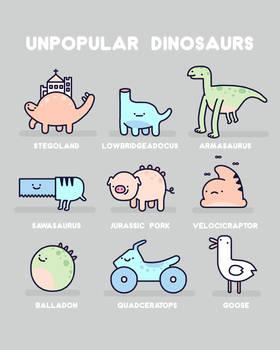 Unpopular dinosaurs