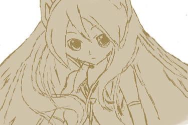 Hatsune Miku Sketch by lizzicess