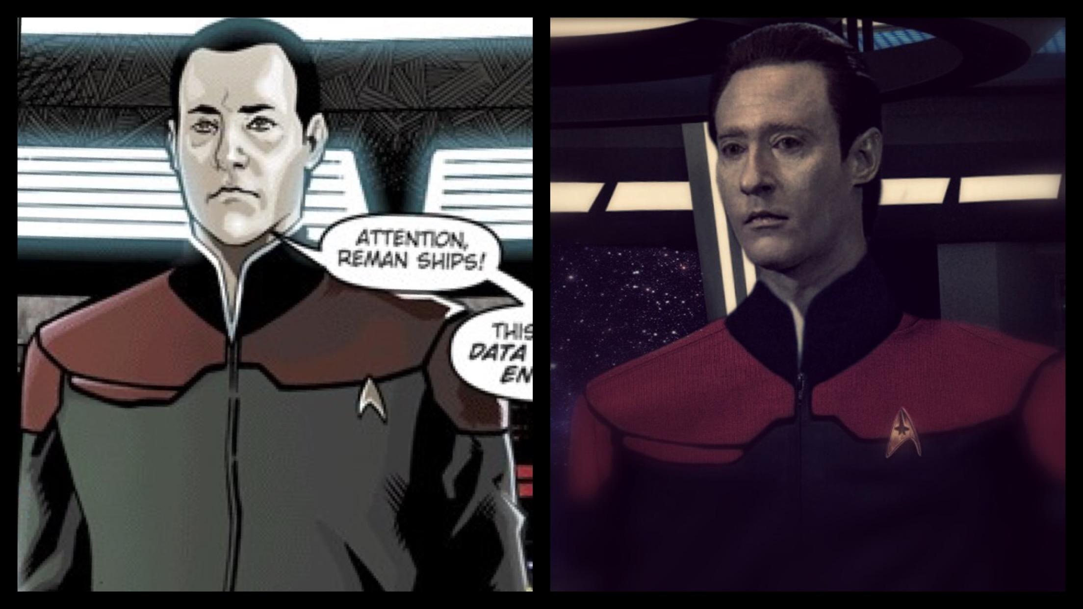 Resultado de imagem para star trek captain data comics