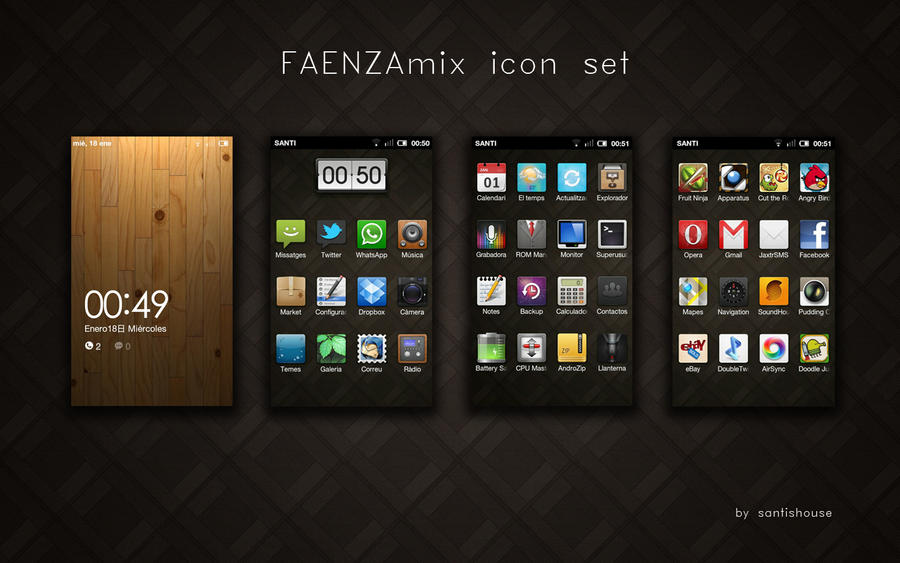 FAENZAmix icon set - ANDROID by santishouse