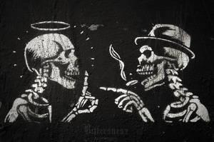 Skeleton Talk by Bittersuesz