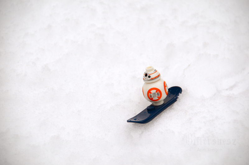 BB-8 venturing out into the snow by Bittersuesz