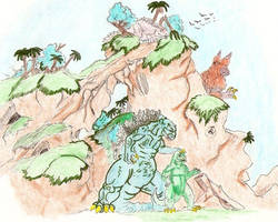 Monster island are 6 by kaijulord21