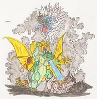 Almighty Kaiju war by kaijulord21