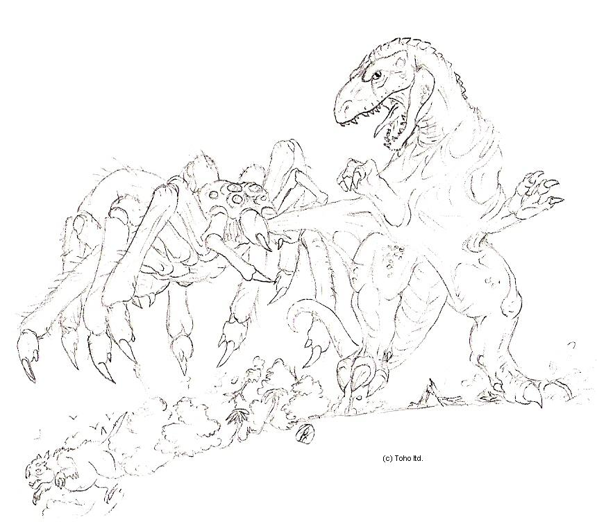 godzilla vs biollante coloring pages - photo#36
