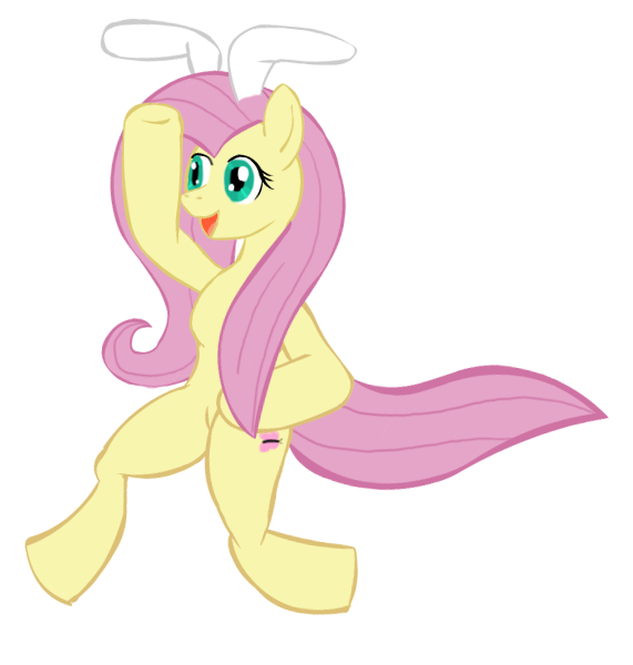 Rabbit Fluttershy by herooftime1000