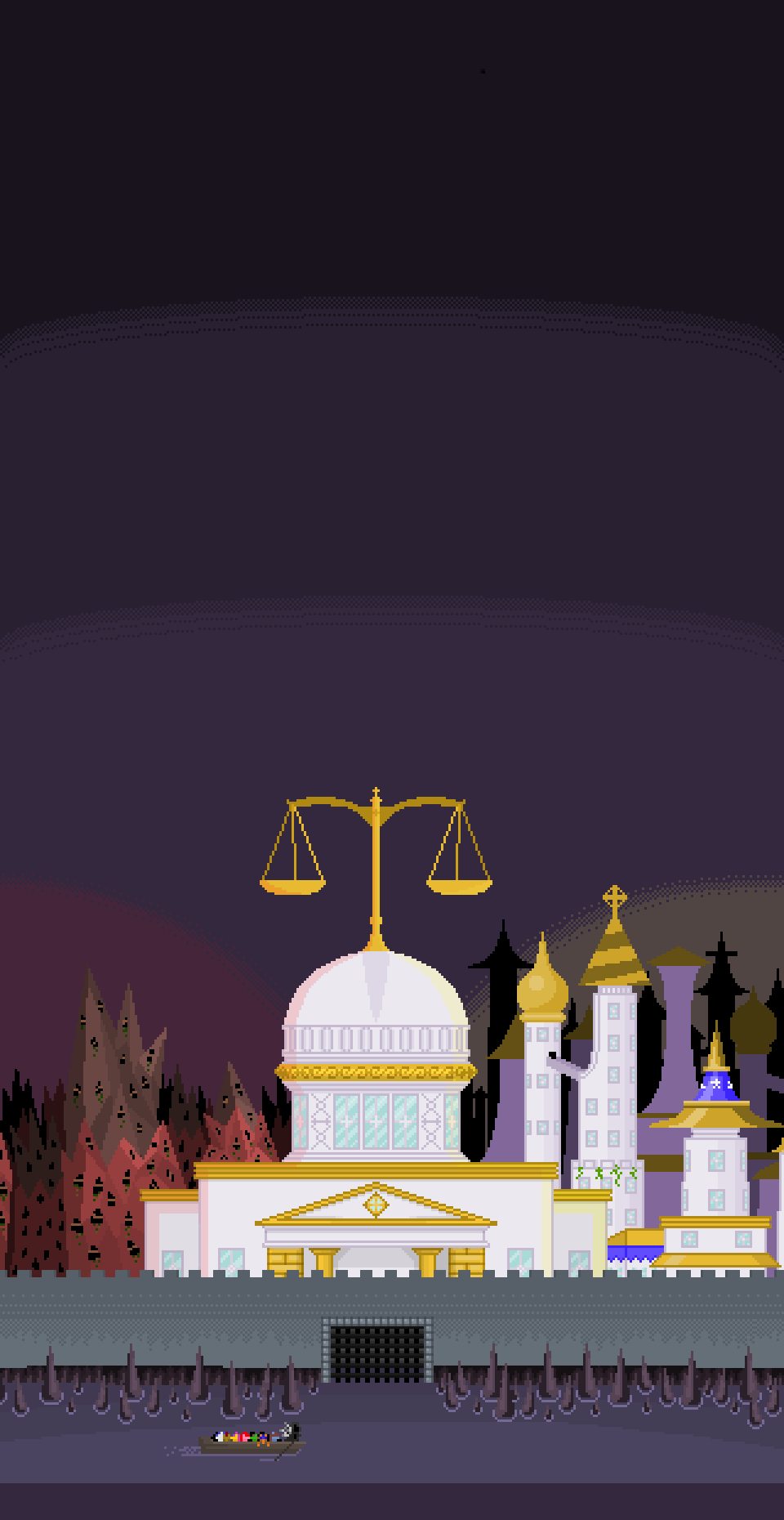 Tartarus, Elysium, and The Courthouse by herooftime1000