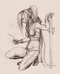 DnD: female elf ranger by yiasafrai
