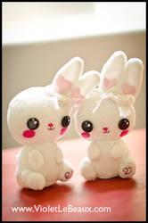 Bergamot Bunny Plushies by VioletLeBeaux
