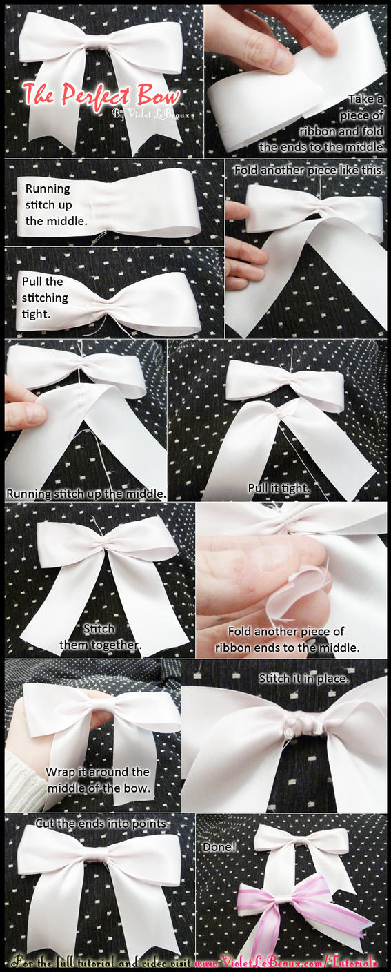 Perfect Ribbon Bow Tutorial by VioletLeBeaux