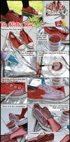 Simple Glitter Shoes Tutorial