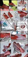 Simple Glitter Shoes Tutorial by VioletLeBeaux