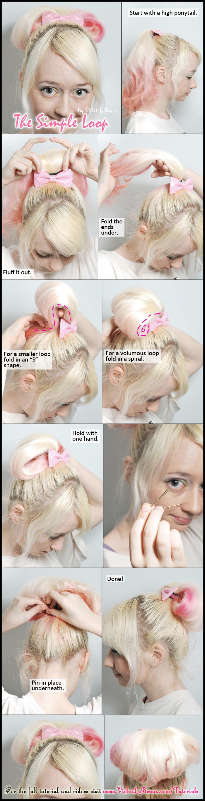 Simple Looped Hair Tutorial by VioletLeBeaux