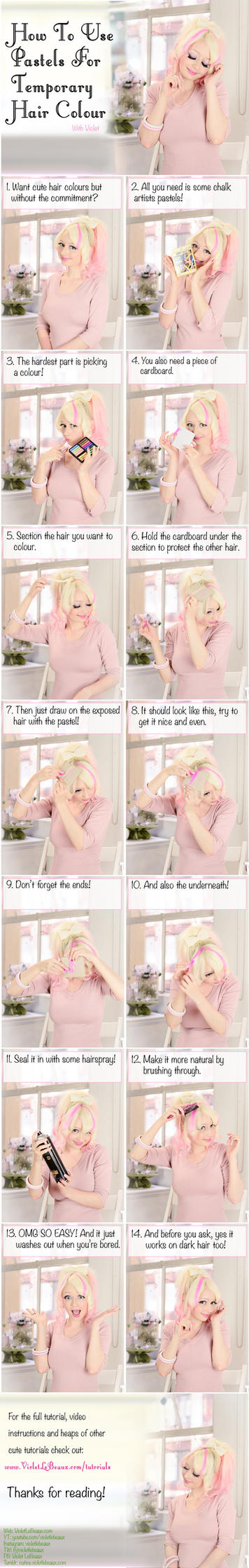How To Use Pastels For Temporary Hair Colour by VioletLeBeaux