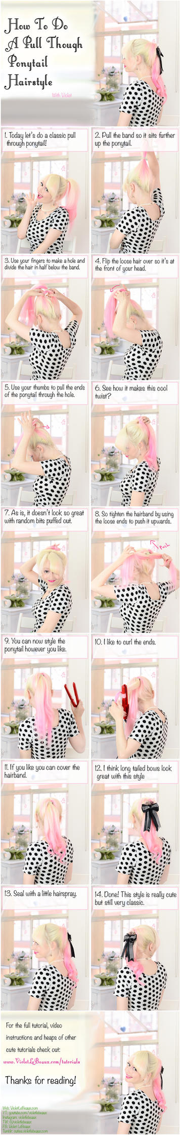 Pull Through Ponytail Hairstyle Tutorial by VioletLeBeaux