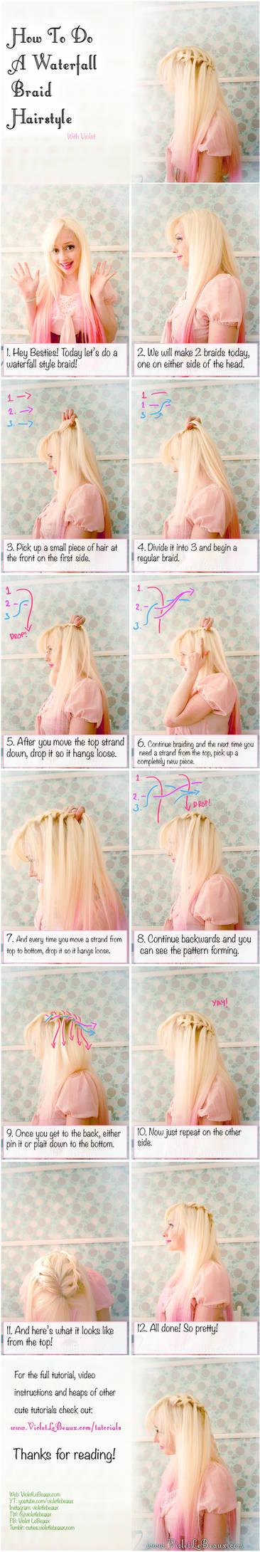 Waterfall Braid Hairstyle Tutorial