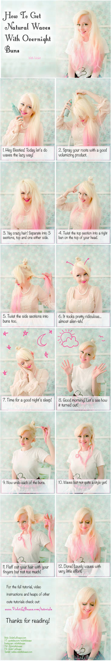 How To Use Buns For Easy Wavy Hair - Tutorial