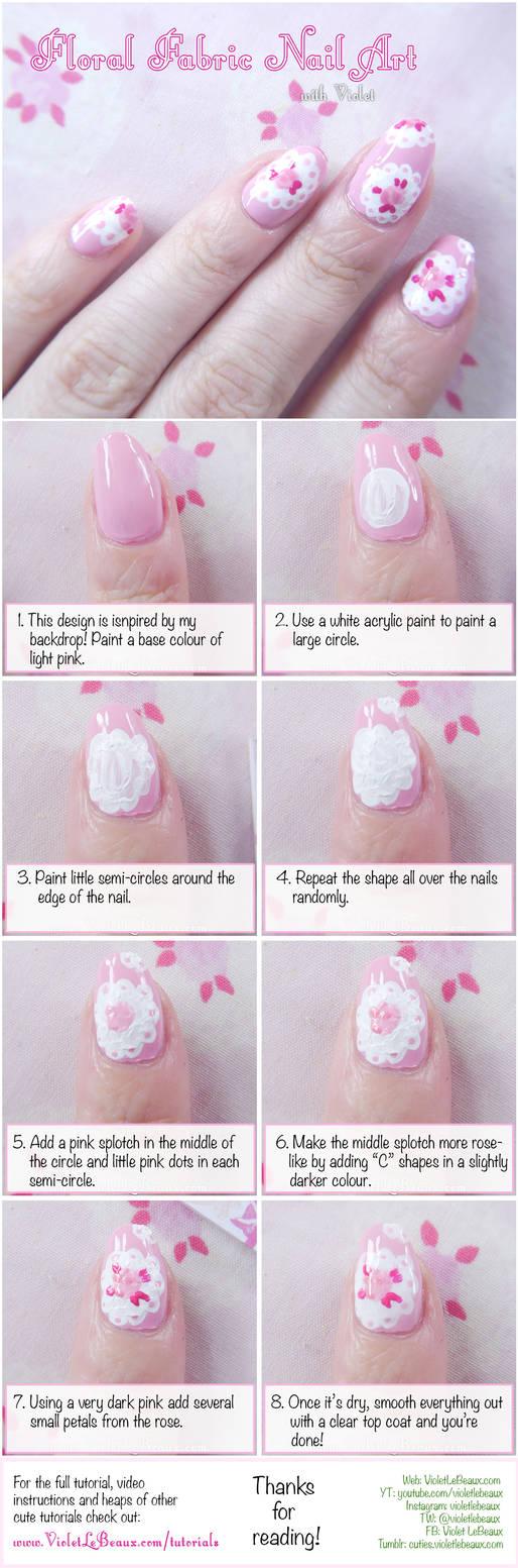 Lace Rose Print Nail Art Tutorial