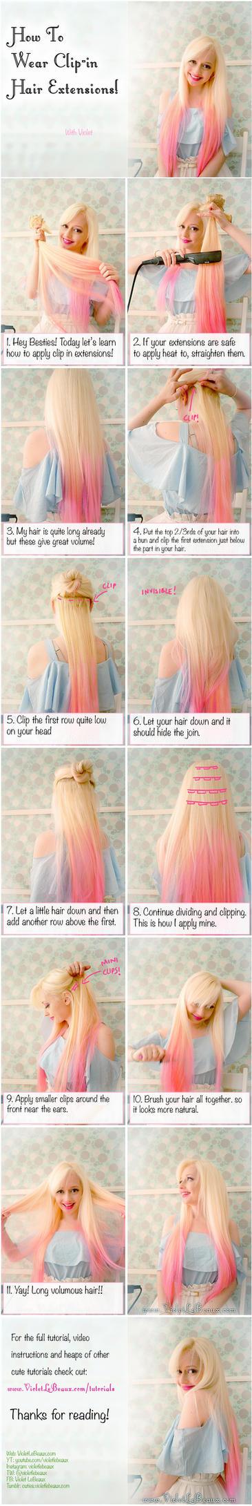 how to use a beak hair clip