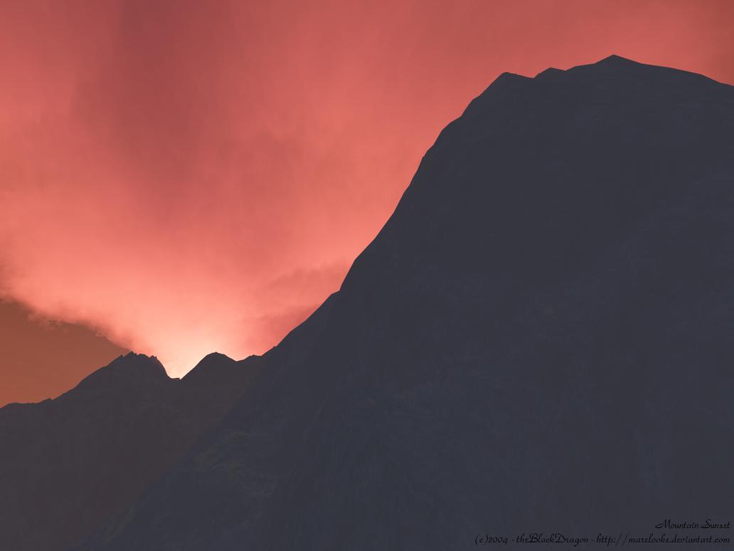 Mountain Sunset by MareLooke