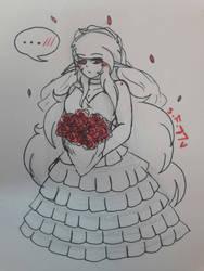 [MY OC , Rilial] bride   by superfrancy77