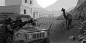 Sniper vs Zombie Camel