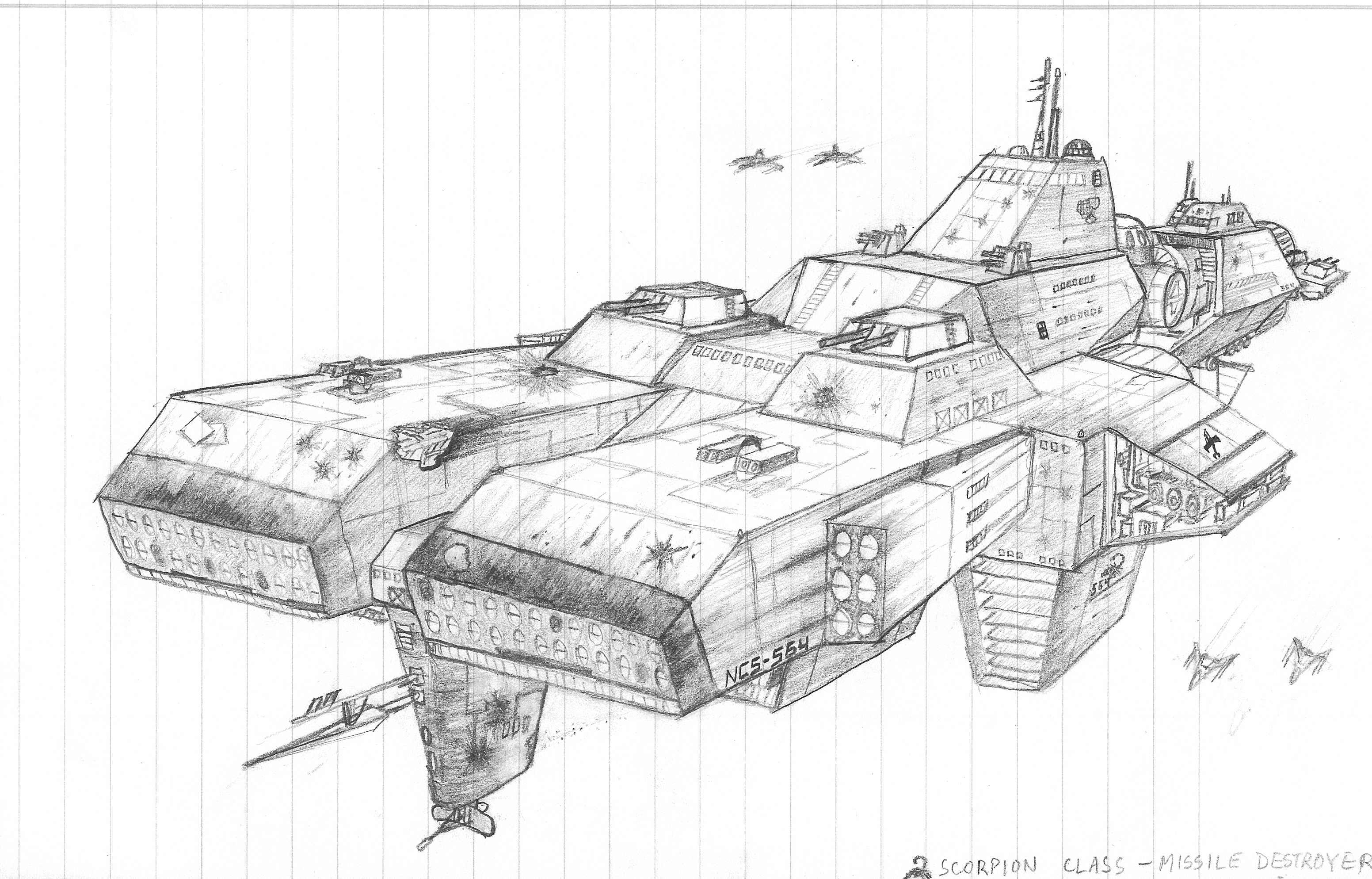 Missile Drawing Scorpion Missil...