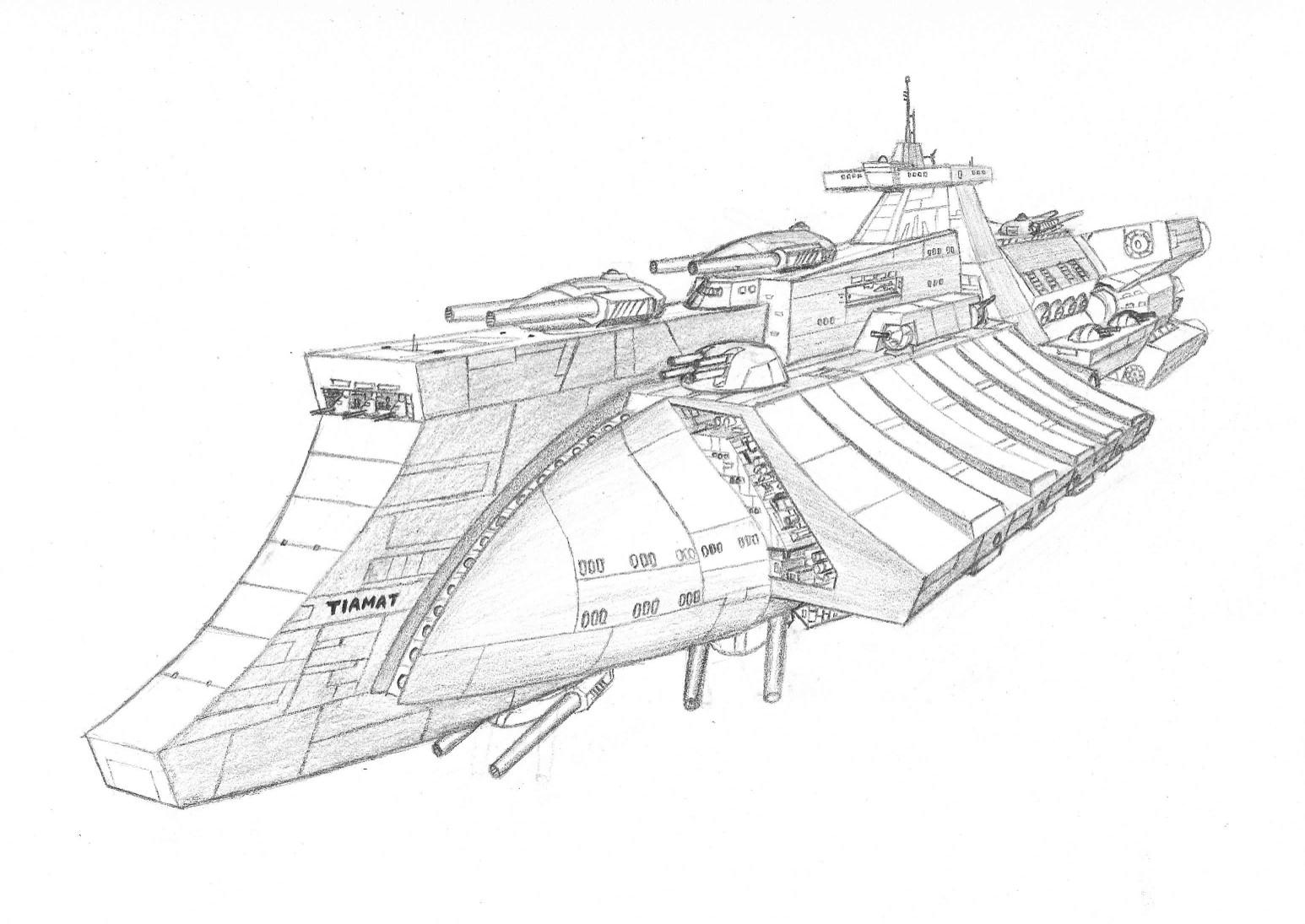 Bastion class Battleship by DissidentZombie